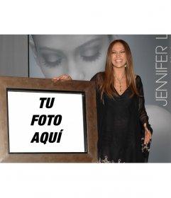 Fotomontaje de Jennifer López para salir en una foto junto a ella