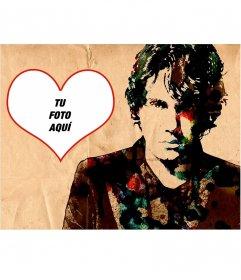Collage con un dibujo del cantante John Mayer