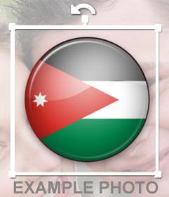Foto montaje online para poner la bandera de Jordania en tu foto de perfil
