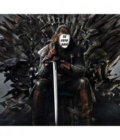 Foto montaje en el trono de hierro para añadir tu cara