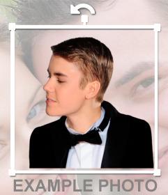 Pegatina de Justin Bieber de lado
