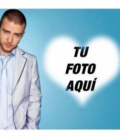 Foto efecto para fanáticos de Justin Timberlake y añadir tu foto