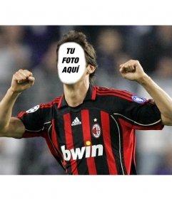 Fotomontaje de Kaká con la camiseta del Milán para poner tu cara