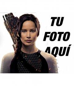 Fotomontaje con Katniss en los Juegos del Hambre