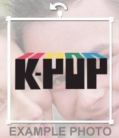 Pegatina con el logo de K-Pop para tus imágenes