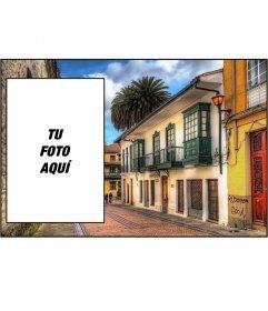 Postal con una foto de la ciudad de Bogotá