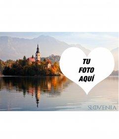 Postal de Eslovenia para decorar tu foto