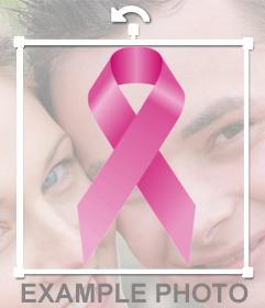 Lazo contra el cáncer rosa en tu foto de perfil