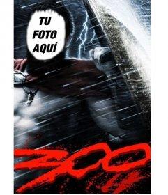 Fotomontaje para ser parte del poster de la película de gladiadores 300