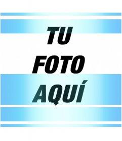 Efecto de líneas horizontales azul eléctrico en tu foto de perfil