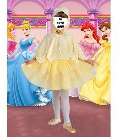 Foto efecto de disfraz de pequeña princesa para niñas