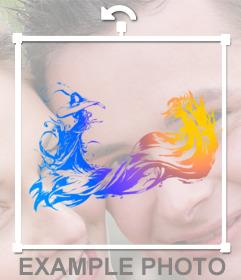 Pegatina con el logo de colores de Final Fantasy X