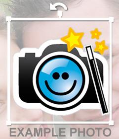 Pegatina con el logo de Fotoefectos.com