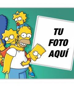Sube tu foto junto con toda la familia Simpson y gratis