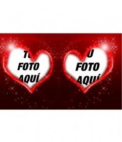 Marcos de dos corazones y estrellas para tus fotos