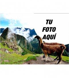 Fotoefecto con las ruinas del Machu Picchu