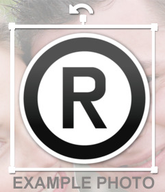 Emoji del símbolo de marca registrada que puedes añadir como un sticker a tus imagenes con nuestro editor de imagenes online