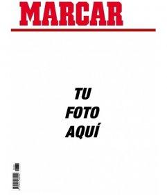 Portada personalizable de broma del periódico Marca