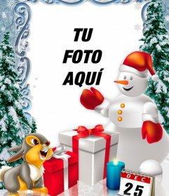 Fotomontaje del día de Navidad para personalizar con fotos