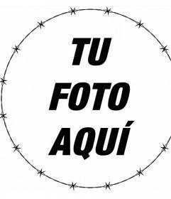 Marco circular con borde de púas para decorar tus fotos gratis