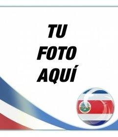 Montaje con la bandera de Costa Rica para poner tu foto