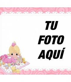 Marcos de fotos para el baby shower con las fotos de tu bebé