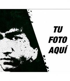 Pon tu foto junto a una pintada de Bruce Lee