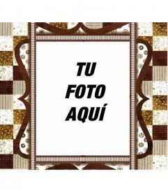 Marco para fotos elegante de color marrón