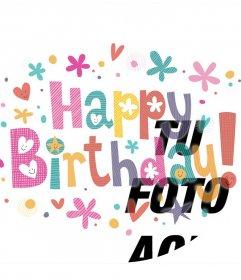 Decora tu foto de perfil con colores y la frase HAPPY BIRTHDAY