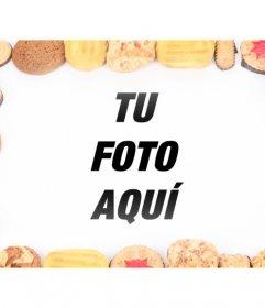 Decora tus fotos digitales con este marco compuesto por galletas de diferentes sabores