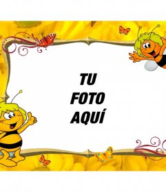 Marco de fotos infantil para personalizar con la Abeja Maya