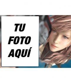 Marco de fotos con una imagen de Final Fantasy