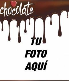 Marco de chocolate derretido para poner tu foto
