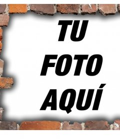 Marco para fotos de pared de ladrillos para rodear tus imágenes