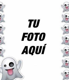 Marco del emoticon de Fantasma para tu foto