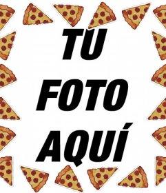Marco online de pizzas para subir una foto