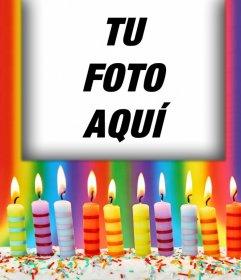 Fotomontaje con velas de Cumpleaños para tu foto