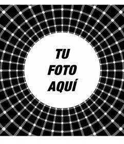 Fotomontaje con una ilusión óptica para añadir tu foto favorita