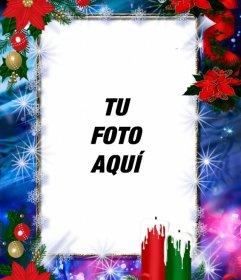 Marco de fotos decorado para Navidad y que podrás personalizar con tu foto