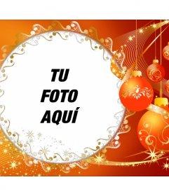 Marco de fotos con adornos de Navidad para poner tu foto