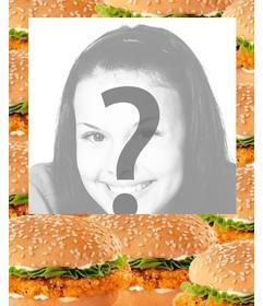 Marco para fotos decorado con hamburguesas