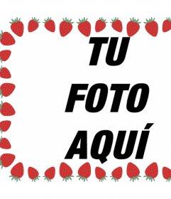 Foto marco para decorar con fresas tus imágenes y gratis