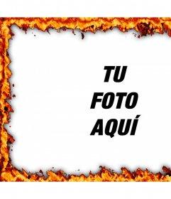 Rodea tus fotos editándolas con este marco online de fuego