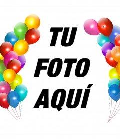 Globos de colores para decorar tus fotos como un marco y gratis