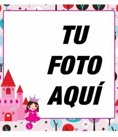 Marco para fotos infantil con una princesa