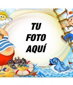Marco infantil para fotos de verano online