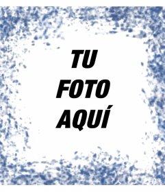 Manchas de color azul al rededor de tus fotos con este fotomontaje