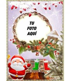 Tarjeta para dedicar en Navidad con una foto añadida