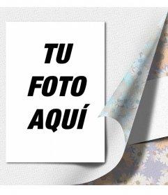 Collage de fotos especial con papel de regalo de flores bajo tu foto
