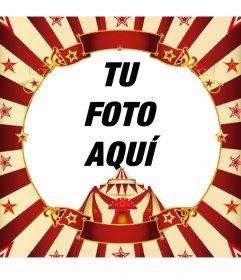 Enmarcar tu foto con una carpa de circo online
